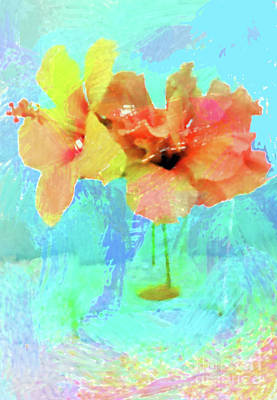 Digital Art - Pretty Flowers by Karen Nicholson