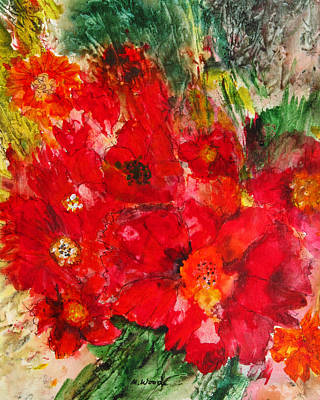 Painting - Pretty Flowers by Marilyn Woods