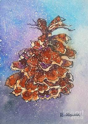 Painting - Pretty Funky Pinecone by Eunice Miller