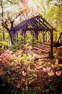 Photograph - Pretty Garden Arbor by Debra and Dave Vanderlaan