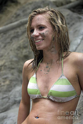 Perky Breasts Photograph - Pretty Girl In Mud by Christopher Purcell