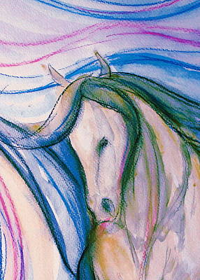 Sporthorse Mixed Media - Pretty Girl by Jennifer Fosgate
