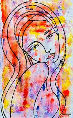 Painting - Pretty Girl by Julie Hoyle