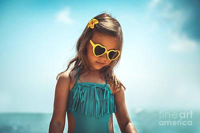 Photograph - Pretty Girl On The Beach by Anna Om
