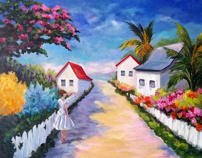 Pretty In Paradise Original by Rosie Sherman