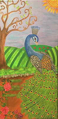 Painting - Pretty In Peacock by Amanda Johnson