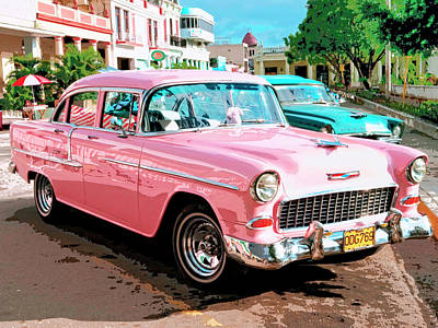 Cuba Mixed Media - Pretty In Pink by Dominic Piperata