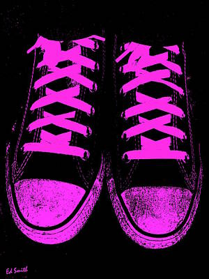 Foot Wear Digital Art - Pretty In Pink by Ed Smith