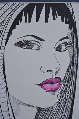 Drawing - Pretty In Pink Lips by Roberta Dunn