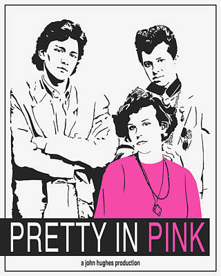 Ink Drawing Digital Art - Pretty In Pink Movie Poster by Finlay McNevin
