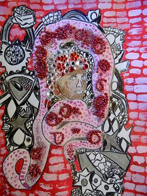 Mixed Media - Pretty In Pink by Nicole Burrell