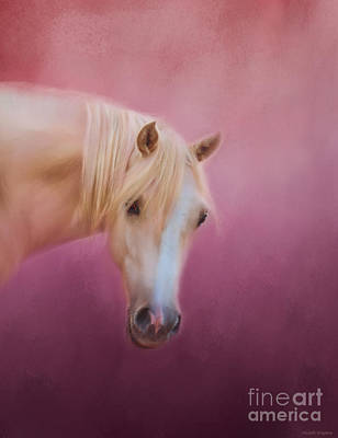 Horses Painting - Pretty In Pink - Palomino Pony by Michelle Wrighton