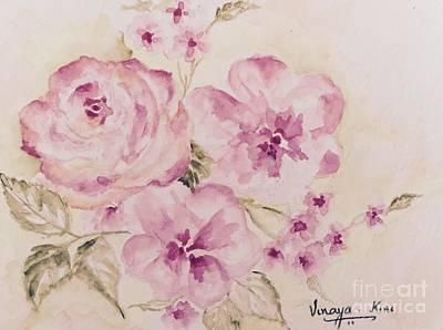 Pretty In Pink -roses And Flowers Original by Vinaya Kini