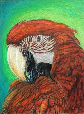Pretty In Red Art Print by Angela Finney