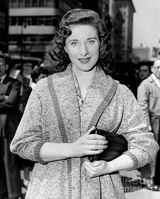 C.b. Radio Photograph - Pretty Irish-american Actress, Carmel Quinn, As She Leaves The Cbs Studio. 1955 by Anthony Calvacca
