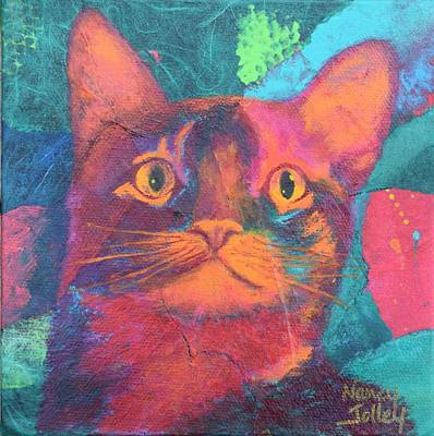 Painting - Pretty Kitty by Nancy Jolley