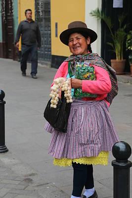 Photograph - Pretty Lady In Lima Peru by Kathryn McBride