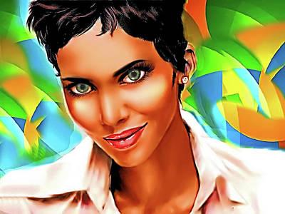 Digital Art - Pretty Lady by Karen Showell