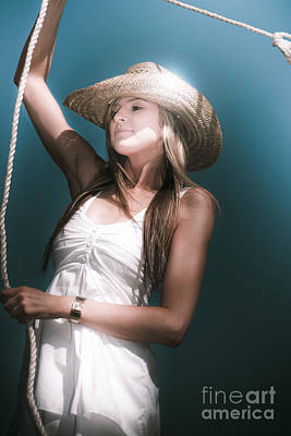 Photograph - Pretty Lasso Girl by Jorgo Photography - Wall Art Gallery