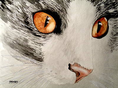 Painting - Pretty Little Brown Eyes by Carol Grimes