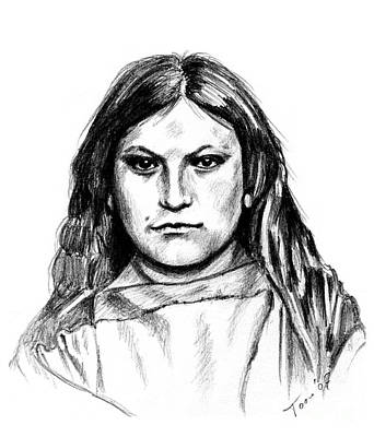 Drawing - Pretty Me - Wife Of Old Crow by Toon De Zwart