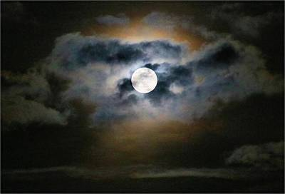 Photograph - Pretty Moonrise Tonight by Kathryn Meyer