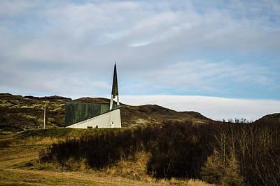 Photograph - Pretty Mountain Church Iceland by Deborah Smolinske