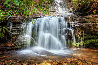 Photograph - Pretty Panther Falls by Debra and Dave Vanderlaan