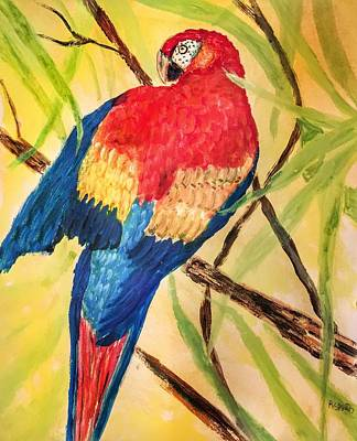 Painting - Pretty Parrot by Anne Sands