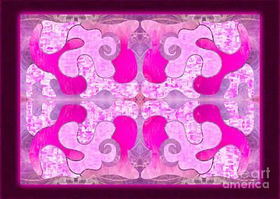Digital Art - Pretty Patterns Pretty In Pink By Omashte by Omaste Witkowski