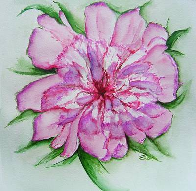 Pretty Peony Original by Elaine Duras
