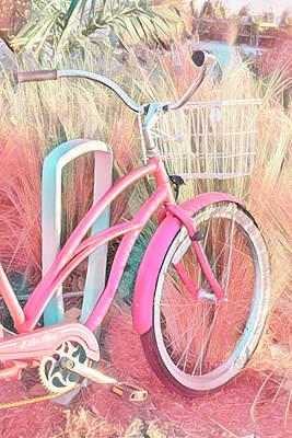 Photograph - Pretty Pink Beach Bike by Debra and Dave Vanderlaan