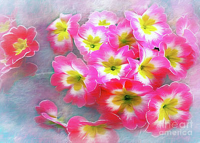 Photograph - Pretty Pink Pansies by Kaye Menner