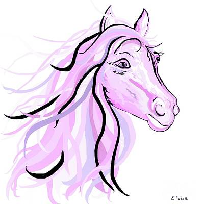 Painting - Pretty Pink Pony by Eloise Schneider