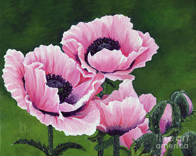 Painting - Pretty Pink Poppies by Lisa Norris