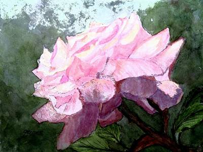 Painting - Pretty Pink Rose by Carol Grimes