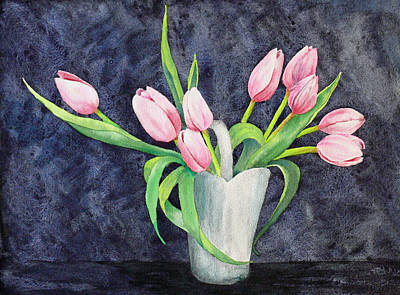 Pretty Pink Tulips Art Print by Dee Carpenter