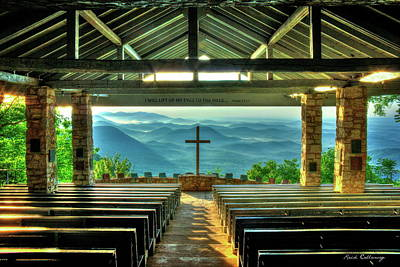 Photograph - Pretty Place Chapel The Son Has Risen Blue Ridge Mountain Art by Reid Callaway