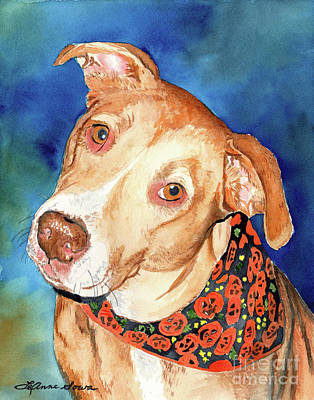 Painting - Pretty Please, Dog Portrait, Dog Painting, Dog Print, Dog Art by LeAnne Sowa