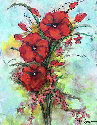 Painting - Pretty Poppies by Cindy DeGraw