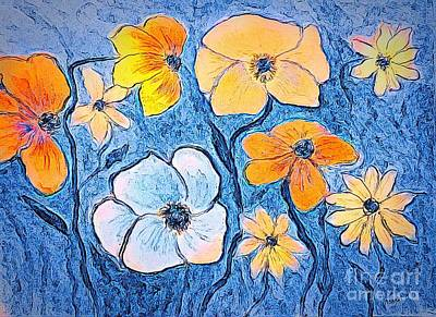 Painting - Pretty Posies by Anne Sands