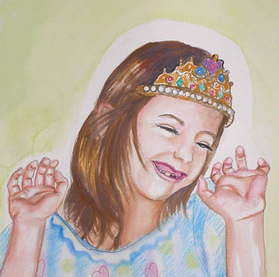 Missing Child Painting - Pretty Princess by Anne Cameron Cutri