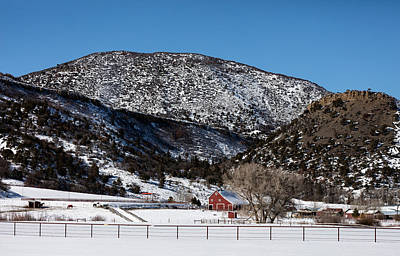 Photograph - Pretty Red Barns From The Highway Between Aspen And Snowmass by Carol M Highsmith