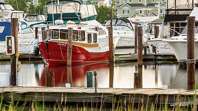 Photograph - Pretty Red Boat by Walt Baker