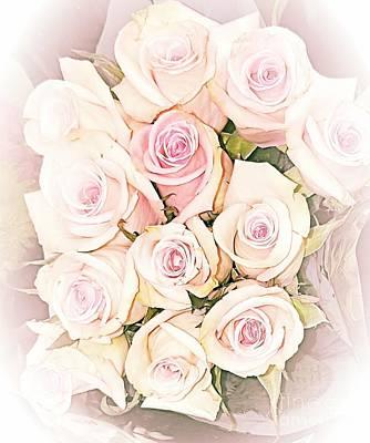 Photograph - Pretty Roses by Rachel Hannah