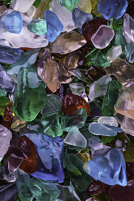 Colorfull Photograph - Pretty Sea Glass by Garry Gay