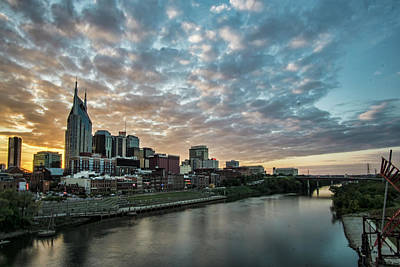 Photograph - Pretty Sky And Nashville Skyline by Sven Brogren