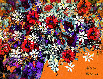 Painting - Pretty Summer Flowers by Natalie Holland
