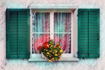 Photograph - Pretty Swiss Window by Debra and Dave Vanderlaan
