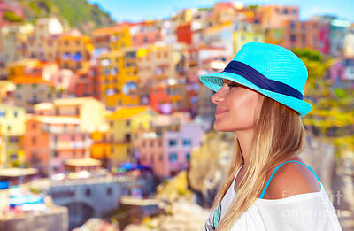 Photograph - Pretty Woman Enjoying  Italy by Anna Om